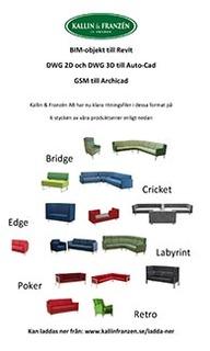 Fler möbelserier som BIM-objekt